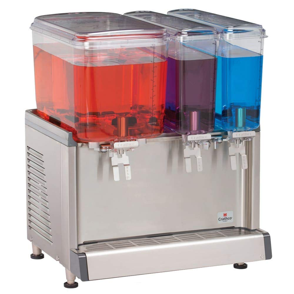 "Crathco CS-3D-16-S 20.4"" Cold Beverage Dispenser w/ (1) 4.75-gal & (2) 2.4-gal Bowls, 115v"