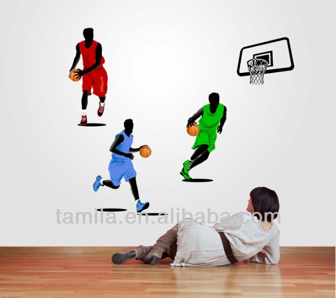 Removable Sports Basketball Player Wall Sticker