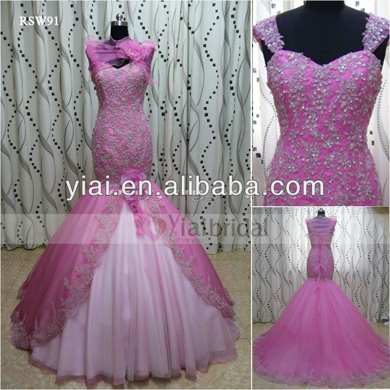 Rsw91 Pink Engagement Dress Wedding Dresses - Buy Wedding Dress ...