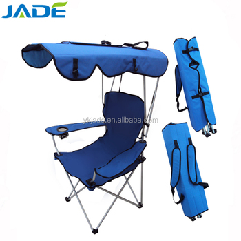 Folding Camping Chair With Sunshade Foldable Beach Sun Canopy Whole