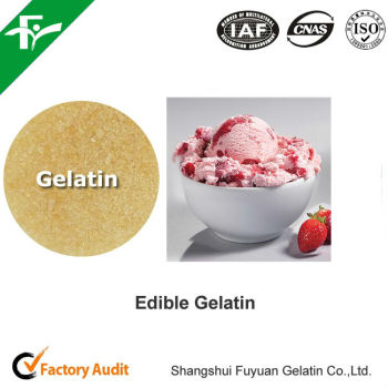natural organic fat free ice cream ingredients food grade gelatin