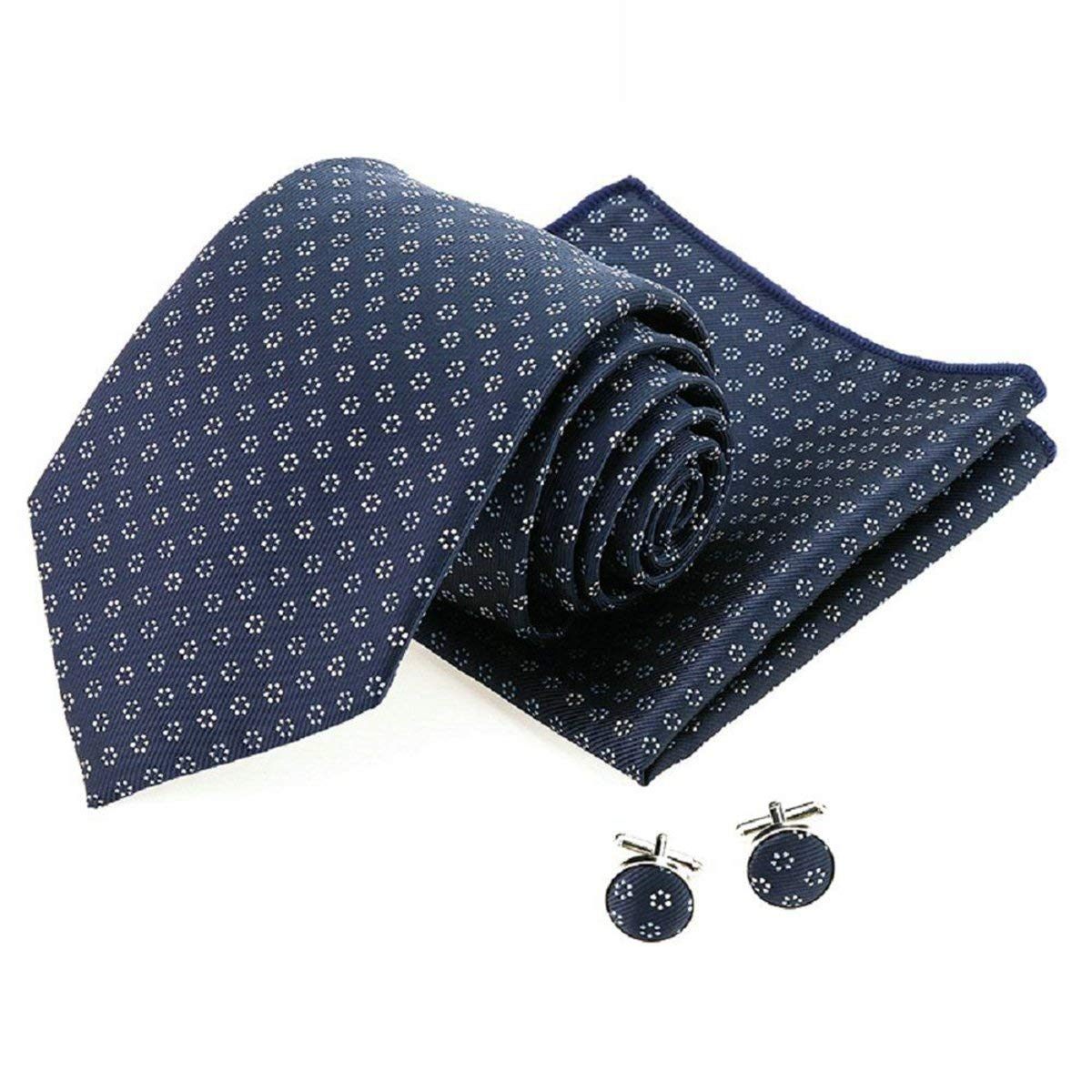 470c2d3e2ff Get Quotations · PinkBTFY Mens Classic Business Hanky 8.5cm Neck Ties Cuff  Links Sets Pocket Square Jacquard Wedding
