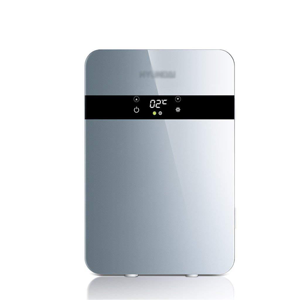 GGCG 20L car Refrigerator, 220V AC Dual-core Refrigeration Heating Refrigerator 12V DC Mini Small Household Mini car Dual-use Refrigerator (Color : Silver)