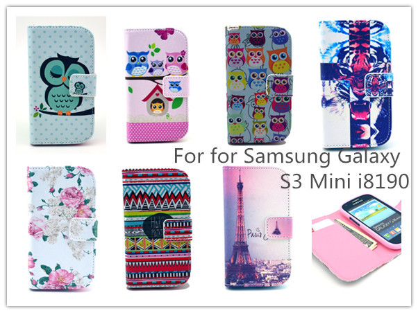 new concept 7d2ee fc06e Sexy Girl cartoon Wallet Leather Case For Samsung Galaxy S3 mini i8190  Stand Credit Card Holder Slot Phone Bags Case for S3mini