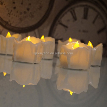 Yellow Flicker Tea Light LED Candle ,Electronic Led tealight candle,Battery Operated Tealight Candles