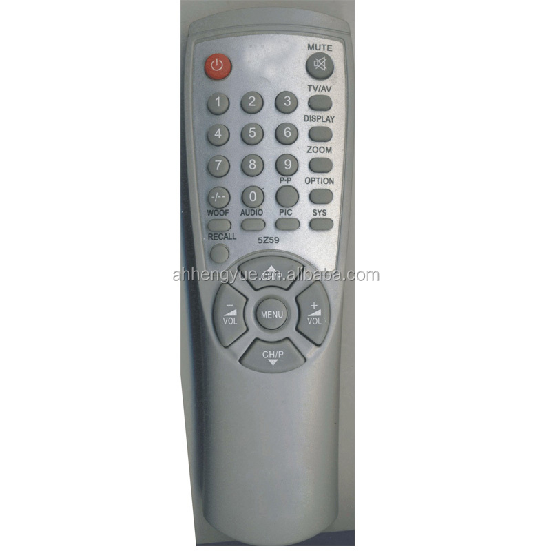 tv remote codes TV remote control receiver for JWIN 5Z59