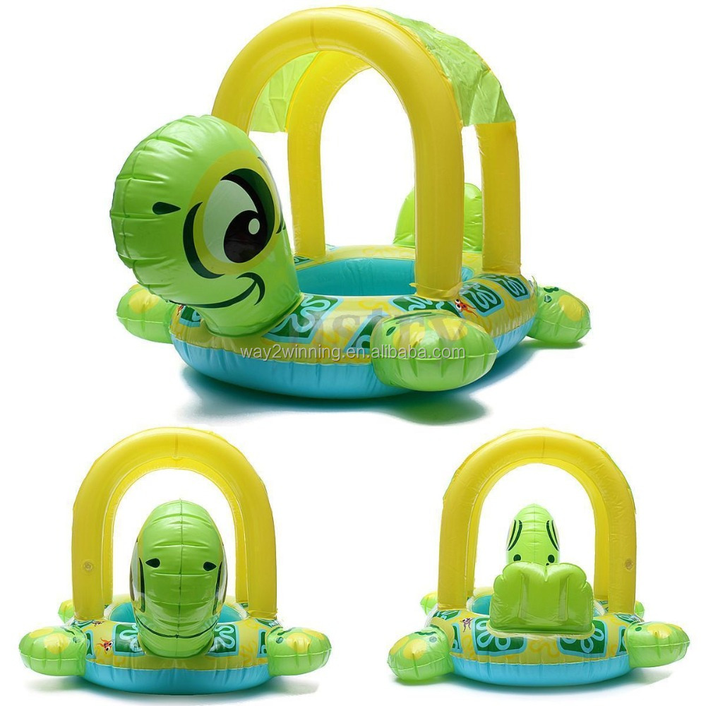 Tortoise Shape Kids Child Baby Inflatable Pool Float Seat Boat Water Swim Ring Turtle Swimming Water Toys for Kids