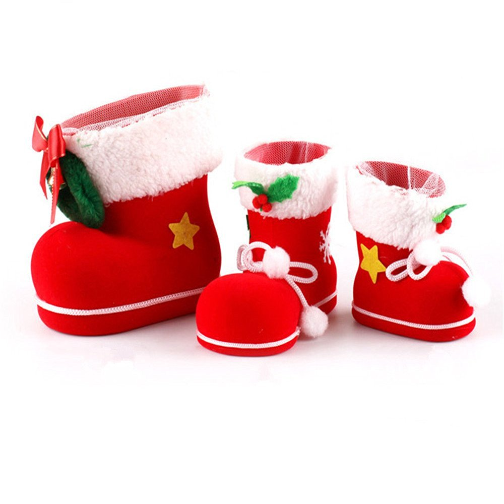 get quotations small medium large size christmas candy boots well party decorations christmas candy socks - Small Decorations For Christmas