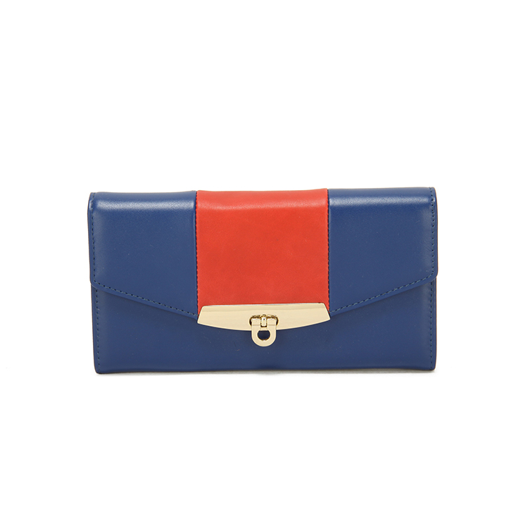 Cheap Customized Genuine Leather navy blue evening bag women Handbags