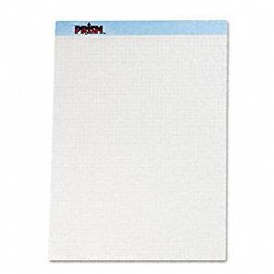 TOPS Products - TOPS - Prism+ Quadrille Perforated Pads, 8-1/2 X 11-3/4, Blue, 50 Sheets/Pads, 12/Pack - Sold As 1 Pack - Letr-Trim perforation leaves clean, smooth edge. - 16-lb. paper weight. -