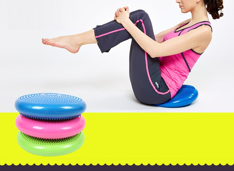 Twist Training Yoga Balance Air Inflated Stability Wobble Cushion