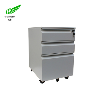 Modern Office Furniture Type Cole Steel 3 Drawer Metal File Cabinet With Wheels