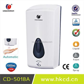 1000ml battery operated refillable automatic sensor foam soap dispenser with bottle bag cd5018a - Foam Soap Dispenser