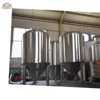 CG-500L micro brewery plant with barley malt fermenting for craft beer making