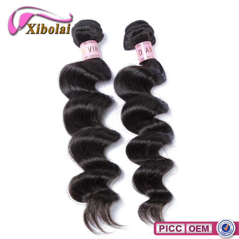 High Demand Products India Top Grade Virgin Human Loose Wave Hair Extensions 90cm