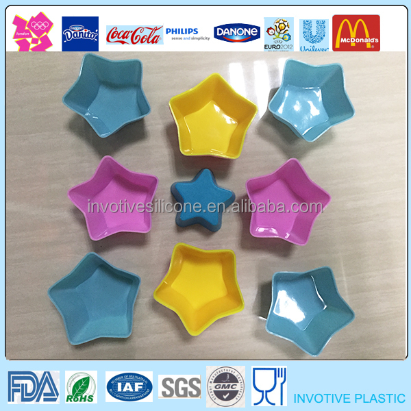 Custom Printed Color Best Star Shaped Mini Silicone Muffin Cup