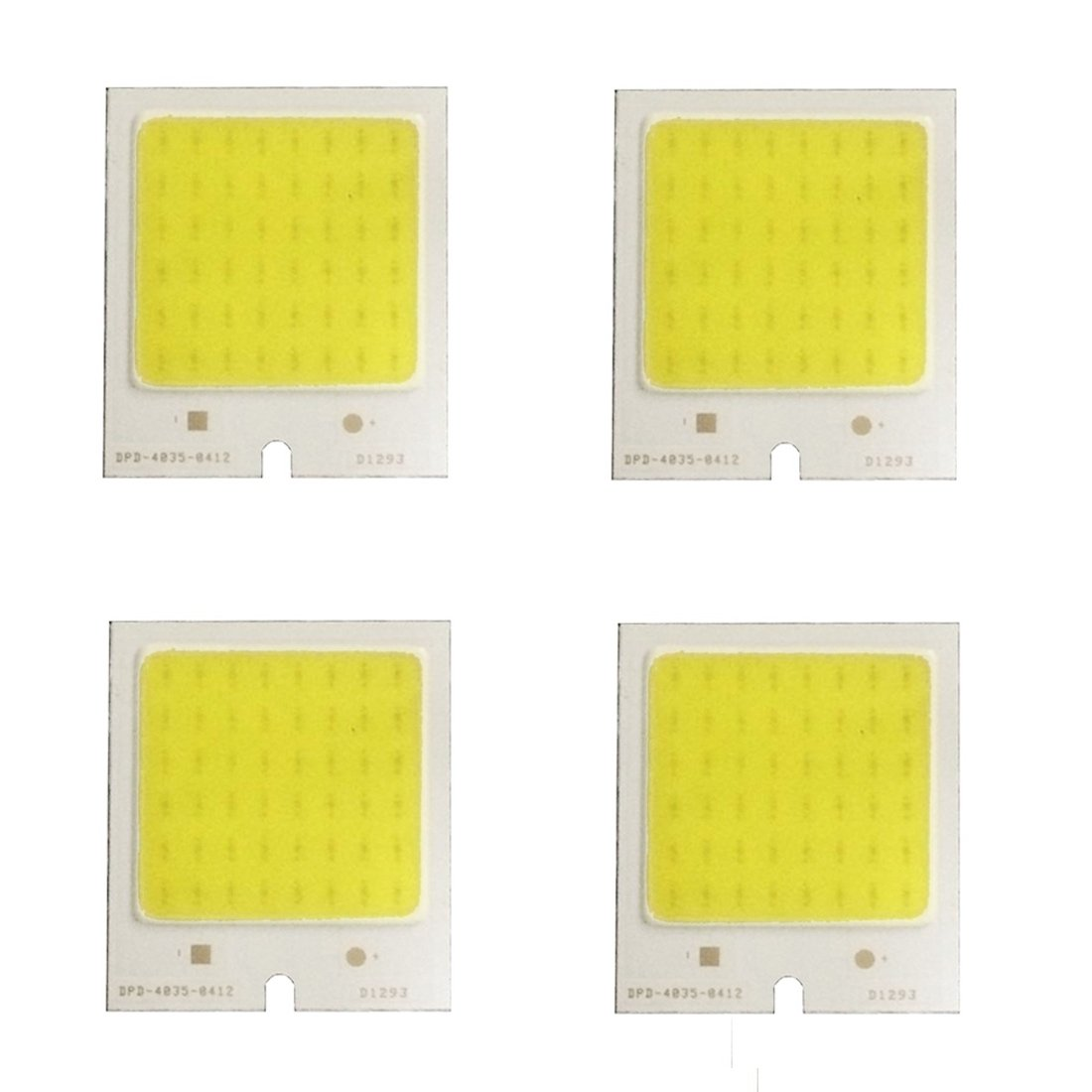 Lights Bulbs, 4 PCS YouOKLight 4W 480mA 6000K 48-LED COB Chip Beads Board Lamp, DC 12V ( Color : White Light )