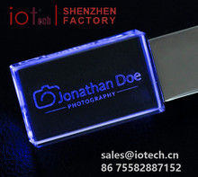 Wholesale Cheap Custom 1tb 2tb Crystal Pendrive,Bulk 1gb USB Flash Drive with 3D Engraved Logo