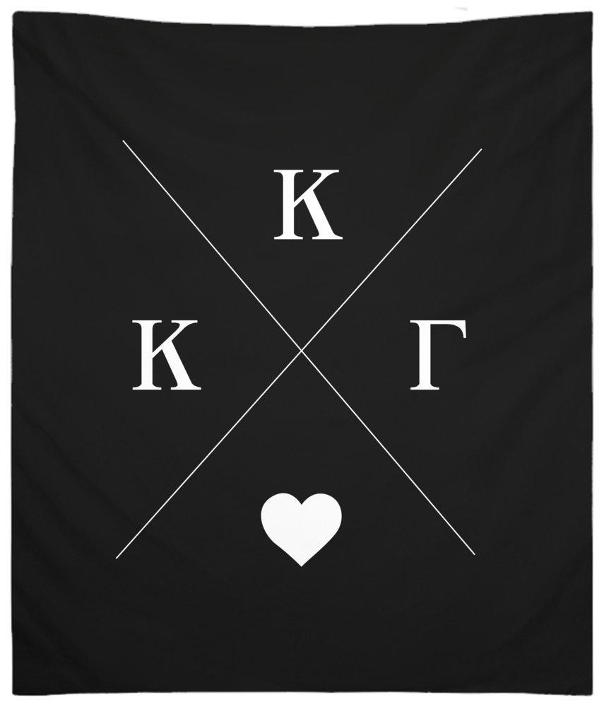 Kappa Kappa Gamma Hipster Wall Tapestry for Bedroom or Dorm