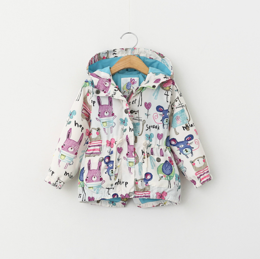2016 New spring summer baby girl Sun protective clothing female child spring jacket
