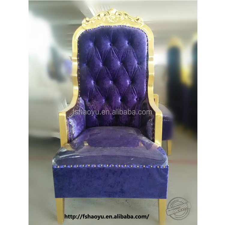 Royal Purple High Back Throne Chair Beauty Salon Furniture Hair Chairs Wooden Product On Alibaba