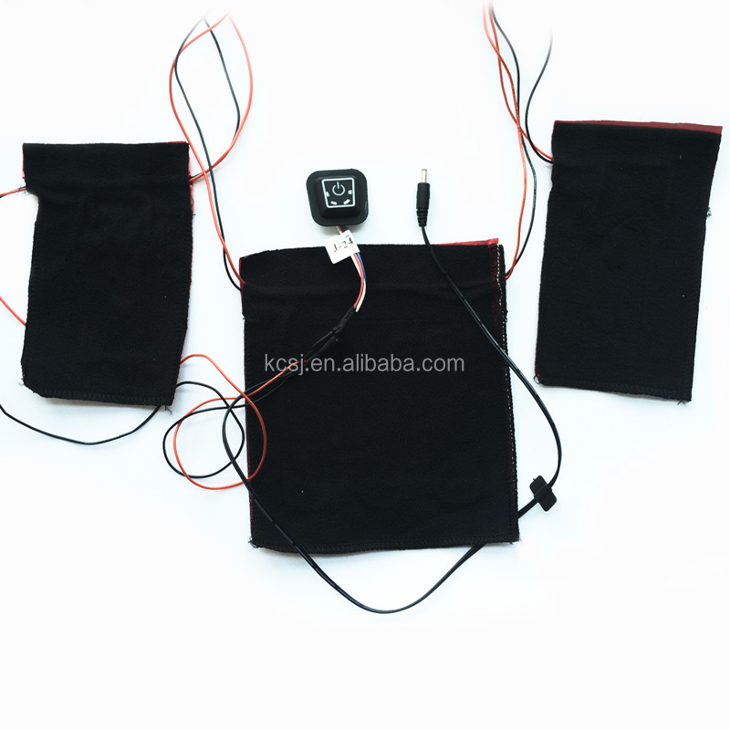 Customized rechargeable battery powered heating pad for electric heating clothes gloves