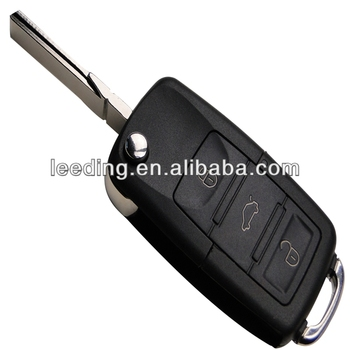 VW Three Button Folding Remote Key Entry FOB Transmitter,car remote transmitter,VW car flip key shell(VW3002)