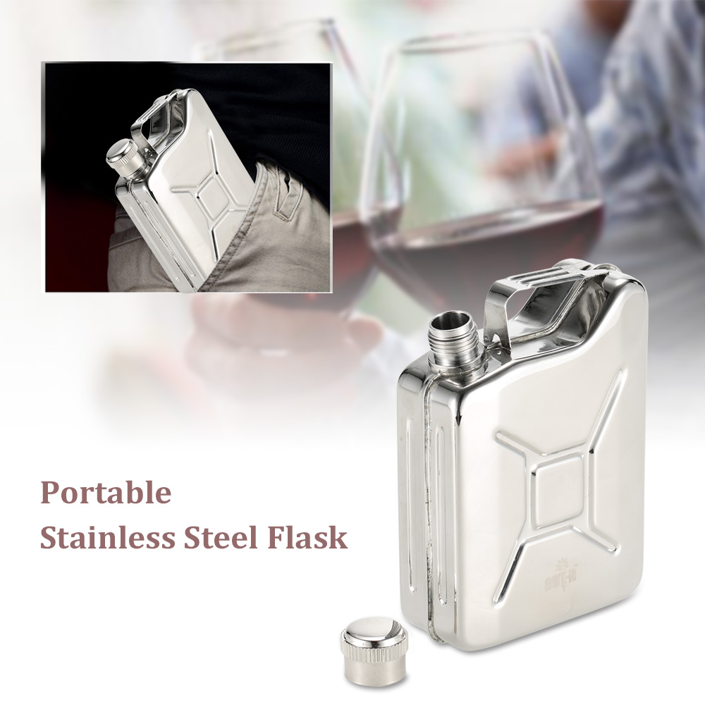 110ml Hip Flask Portable Stainless Steel Hip Flask for Whiskey Liquor <strong>Wine</strong> Alcohol Outdoor Sports Mini Flask with Funnel
