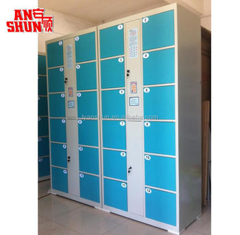 FFAS 103 Intelligent Finger Print Coin Open Cabinet Metal Furniture Digital Electronical Locker