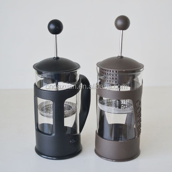 350ml French Press Coffee Press/Glass coffee plunger/Stainless Steel Coffee Maker top quality