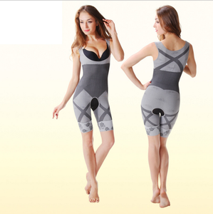 Natural Bamboo Charcoal Slimming Body Shaper Full Body Suit Corset Tummy Shapewear