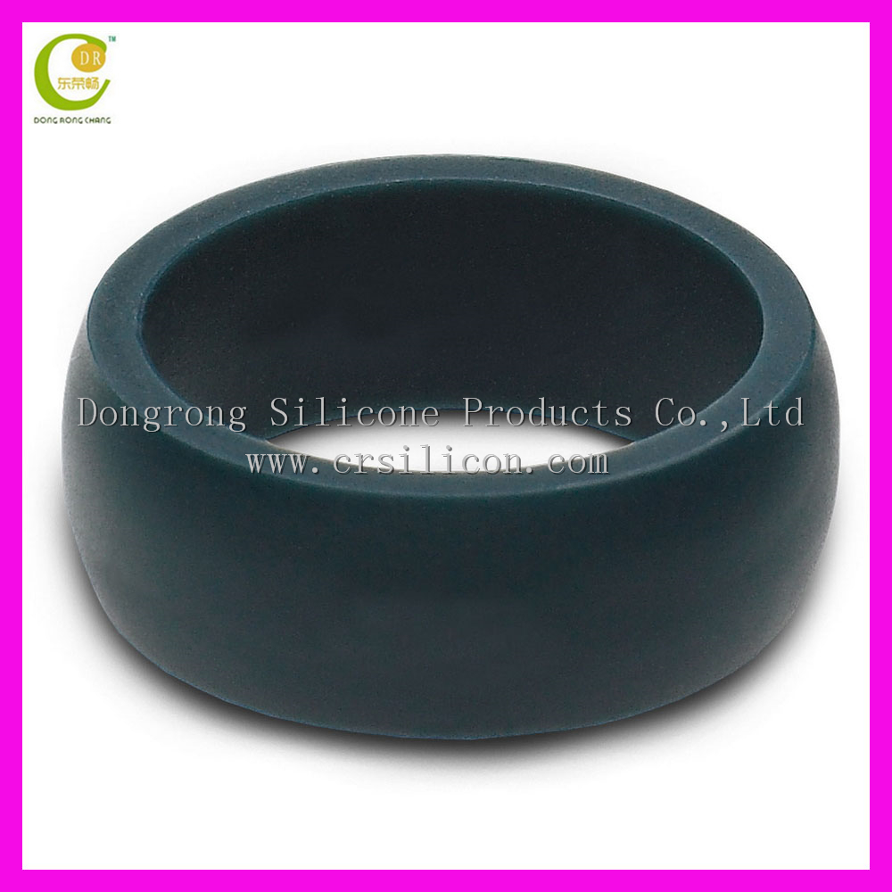 Mens Silicone Slate Grey Wedding Ring Wedding Band - 8.7mm Wide 2mm Thick <strong>Black</strong>, Gray, Light