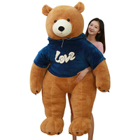 Dressed giant bear custom plush doll plush toy handmade stuffed plush toy