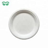 Sugarcane pulp 7 inch various sizes round biodegradable plates