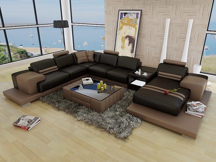 Lieblich Gute Qualität Modernes Design U Form Möbel Wohnzimmer Sofa Gesetzt Echtem  Leder Sofa