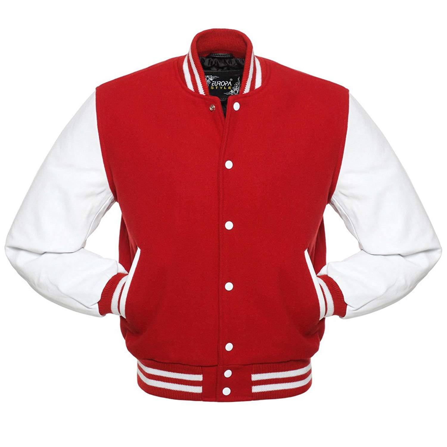 Varsity Jacket for Men's Stylish & Fashionable Baseball Jacket 100% Wool & 100% Genuion Leather