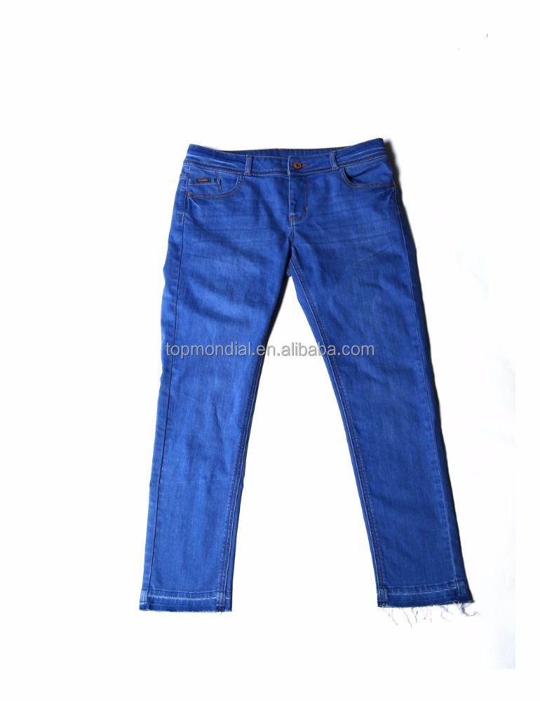 new style women embroidered jeans trousers denim jeans wholesale