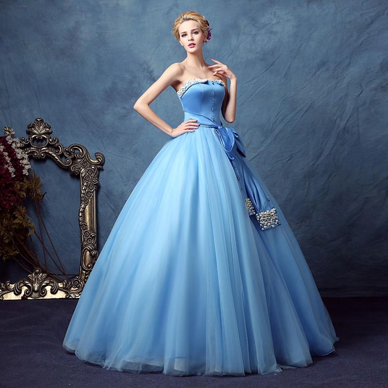 Blue Vintage Prom Dress 87