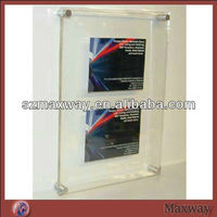 Clear wall mounting plexiglass picture album perspex photo frame