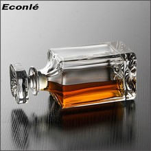 750ml alcohol beverage glass bottle with lid