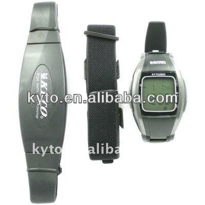 KYTO 2.4GHz wireless heart rate watch with chest strap OEM/ODM product BP device for bike sport