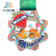 direct sell India night run marathon cut out logos custom kids sports medal trophy