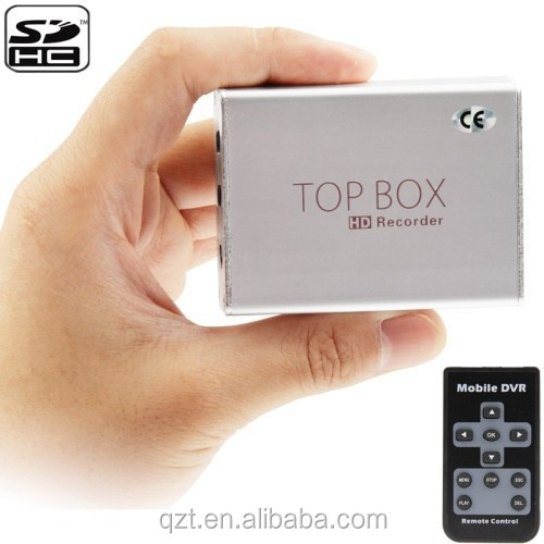 HD Mini 1 Channel DVR Top Box Video Recorder shockproof Support SD Card