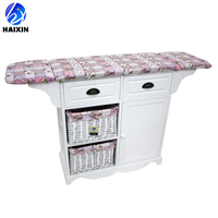 furniture living room wooden folding ironing board with storage drawers