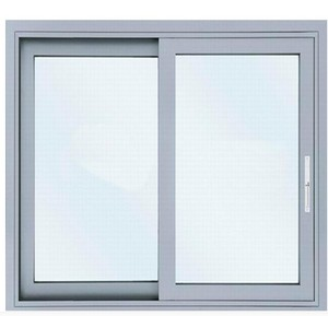 aluminum window panel glass sliding reception window
