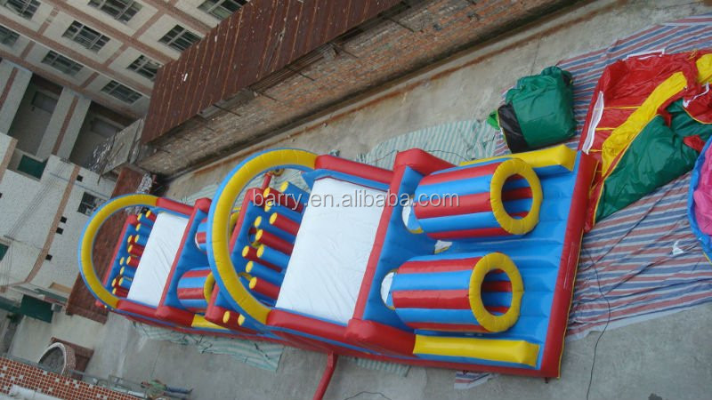 Big and giant inflatable obstacle course for kids and adult