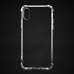 Wholesale Clear Transparent Shockproof TPU and PC Mobile Phone Case for iphone X