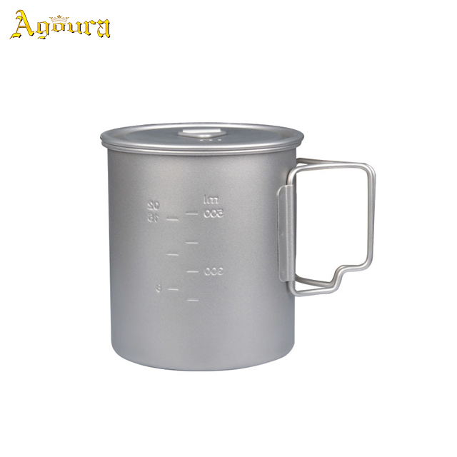 Pure Titanium Outdoor Camping Hanging Pot with Bail Handle Easy to Carry, a Variety of Capacities