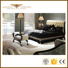 Top Quality antique royal exotic wood bedroom furniture