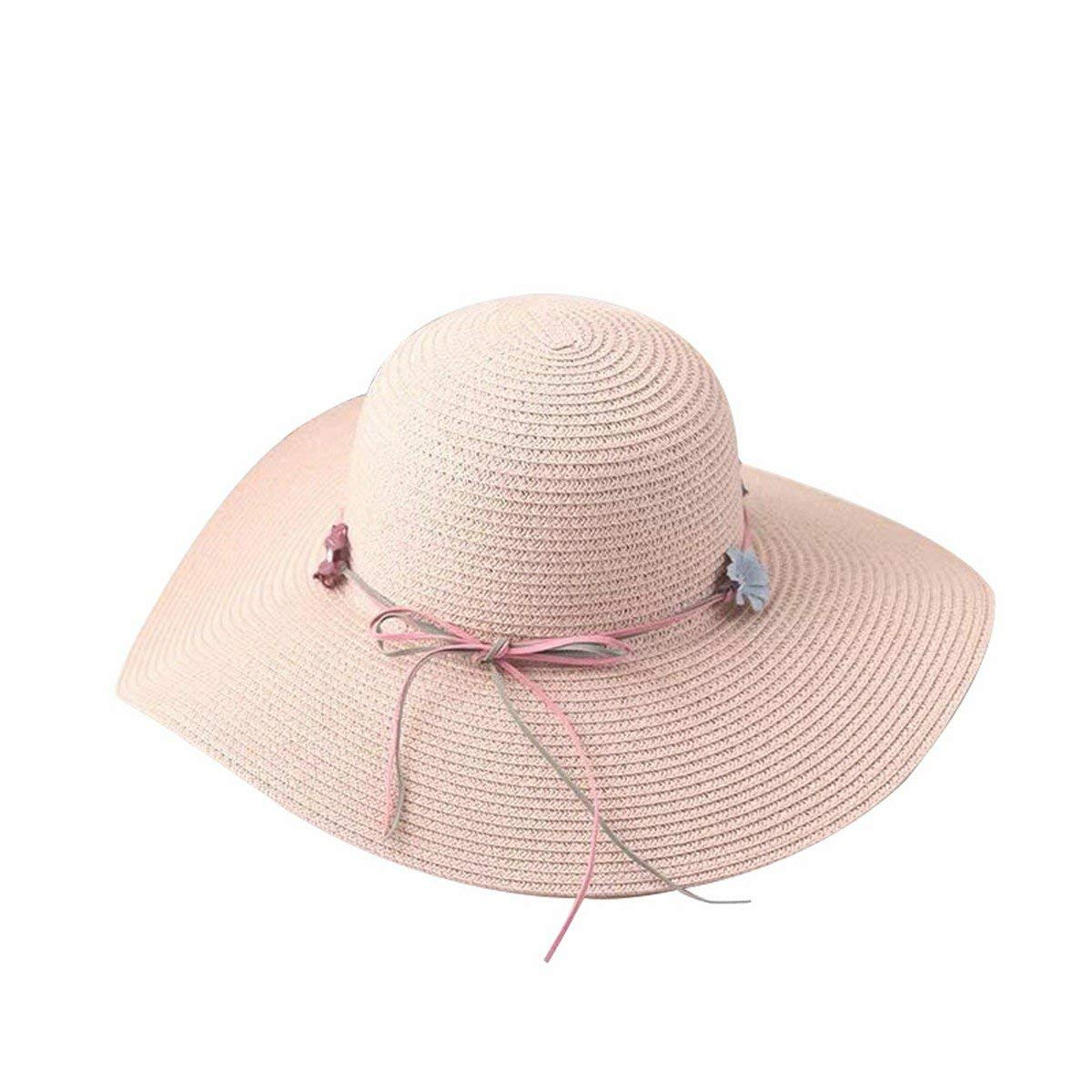 d4ce865e468b2 Get Quotations · LYX Women Foldable Floppy Travel Packable UV Hat Cotton Sun  Hats Wide Brim